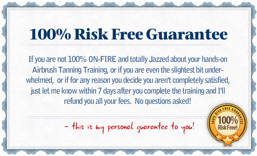 Spray Tan Training Guarantee